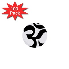Hindu Om Symbol  1  Mini Buttons (100 Pack)  by abbeyz71