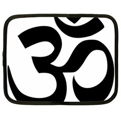 Hindu Om Symbol  Netbook Case (xl)  by abbeyz71
