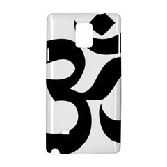 Hindu Om Symbol  Samsung Galaxy Note 4 Hardshell Case by abbeyz71