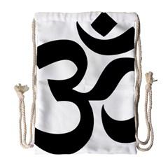 Hindu Om Symbol  Drawstring Bag (large) by abbeyz71