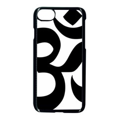 Hindu Om Symbol  Apple Iphone 7 Seamless Case (black) by abbeyz71