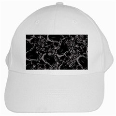 Skulls Pattern White Cap by ValentinaDesign