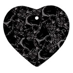 Skulls pattern Ornament (Heart)