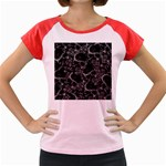 Skulls pattern Women s Cap Sleeve T-Shirt