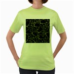 Skulls pattern Women s Green T-Shirt