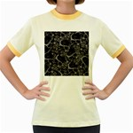 Skulls pattern Women s Fitted Ringer T-Shirts