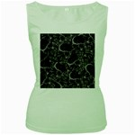 Skulls pattern Women s Green Tank Top