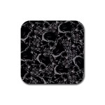 Skulls pattern Rubber Square Coaster (4 pack)