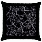 Skulls pattern Throw Pillow Case (Black)