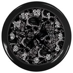 Skulls pattern Wall Clocks (Black)