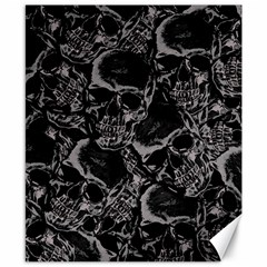 Skulls Pattern Canvas 8  X 10  by ValentinaDesign