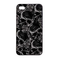 Skulls Pattern Apple Iphone 4/4s Seamless Case (black) by ValentinaDesign
