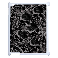 Skulls Pattern Apple Ipad 2 Case (white) by ValentinaDesign