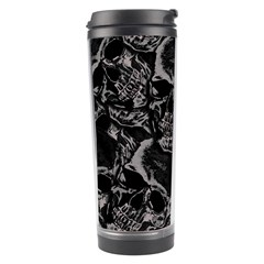 Skulls Pattern Travel Tumbler by ValentinaDesign