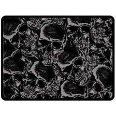 Skulls Pattern Double Sided Fleece Blanket (large)  by ValentinaDesign