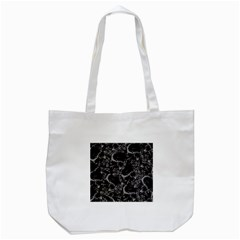 Skulls Pattern Tote Bag (white) by ValentinaDesign