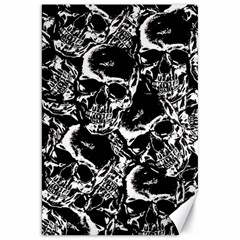 Skulls Pattern Canvas 20  X 30   by ValentinaDesign