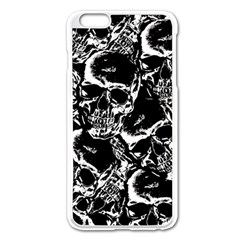 Skulls Pattern Apple Iphone 6 Plus/6s Plus Enamel White Case by ValentinaDesign