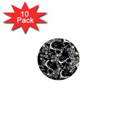 Skulls Pattern 1  Mini Magnet (10 Pack)  by ValentinaDesign