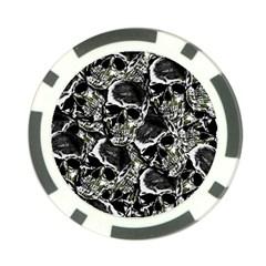 Skulls Pattern Poker Chip Card Guard by ValentinaDesign