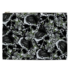 Skulls Pattern Cosmetic Bag (xxl)  by ValentinaDesign
