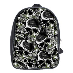 Skulls Pattern School Bags (xl)  by ValentinaDesign
