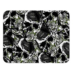 Skulls Pattern Double Sided Flano Blanket (large)  by ValentinaDesign