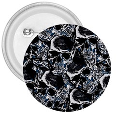 Skulls Pattern 3  Buttons by ValentinaDesign