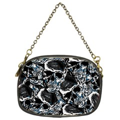 Skulls Pattern Chain Purses (two Sides)  by ValentinaDesign