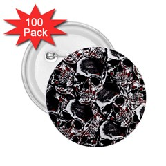 Skulls Pattern 2 25  Buttons (100 Pack)