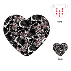 Skulls Pattern Playing Cards (heart)  by ValentinaDesign