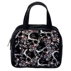Skulls Pattern Classic Handbags (one Side) by ValentinaDesign