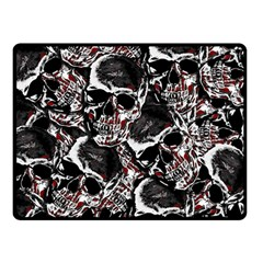 Skulls Pattern Double Sided Fleece Blanket (small)  by ValentinaDesign