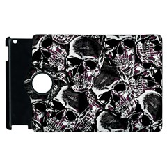 Skulls Pattern Apple Ipad 2 Flip 360 Case by ValentinaDesign