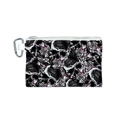 Skulls Pattern Canvas Cosmetic Bag (s) by ValentinaDesign
