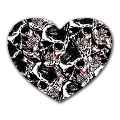 Skull Pattern Heart Mousepads by ValentinaDesign