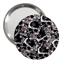 Skull Pattern 3  Handbag Mirrors by ValentinaDesign