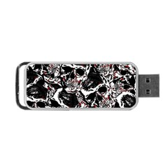 Skull Pattern Portable Usb Flash (two Sides) by ValentinaDesign