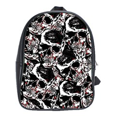 Skull Pattern School Bags (xl)  by ValentinaDesign