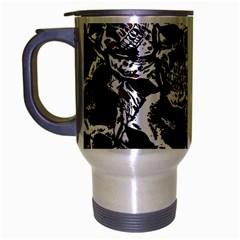 Skull Pattern Travel Mug (silver Gray) by ValentinaDesign