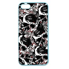 Skull Pattern Apple Seamless Iphone 5 Case (color) by ValentinaDesign