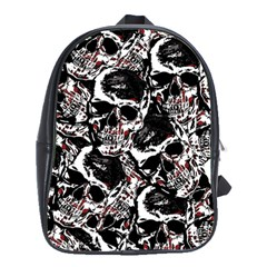 Skull Pattern School Bags(large)  by ValentinaDesign