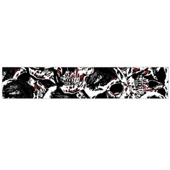 Skull Pattern Flano Scarf (large) by ValentinaDesign