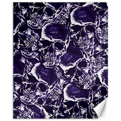Skull Pattern Canvas 11  X 14   by ValentinaDesign
