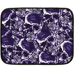 Skull Pattern Double Sided Fleece Blanket (mini)  by ValentinaDesign