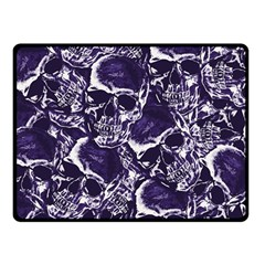 Skull Pattern Double Sided Fleece Blanket (small)  by ValentinaDesign