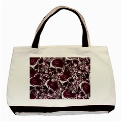 Skull Pattern Basic Tote Bag (two Sides) by ValentinaDesign
