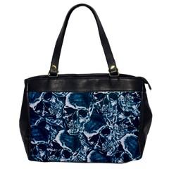 Skull Pattern Office Handbags by ValentinaDesign