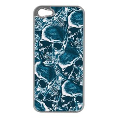 Skull Pattern Apple Iphone 5 Case (silver) by ValentinaDesign