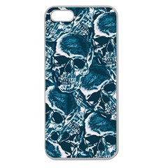 Skull Pattern Apple Seamless Iphone 5 Case (clear) by ValentinaDesign